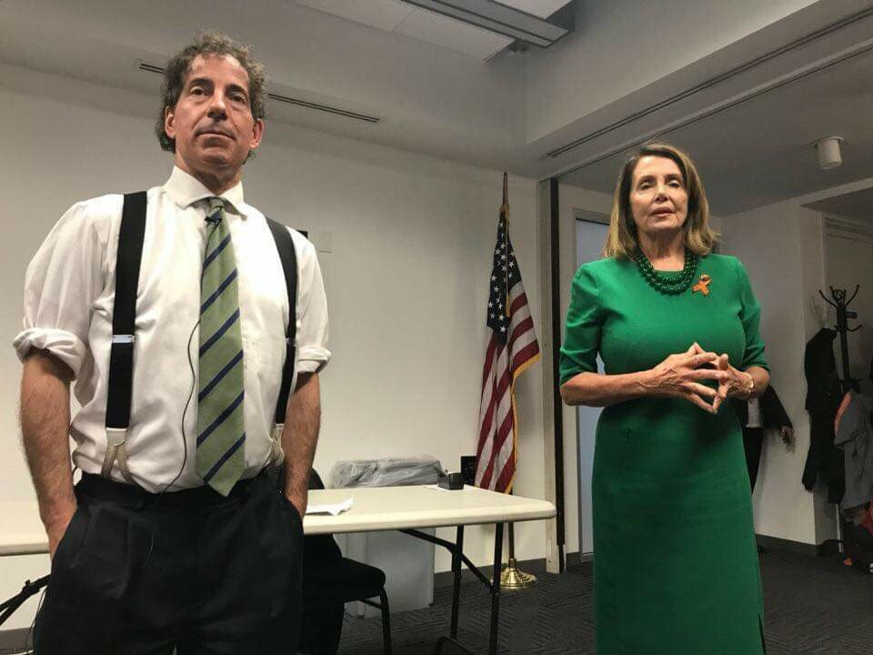 Congressman Raskin and House Minority Leader Nancy Pelosi speak to students at Raskin's summer program Democracy Summer. Raskin brings in guest speakers multiple times a week to inspire the students and give them insight from different leaders and politicians.