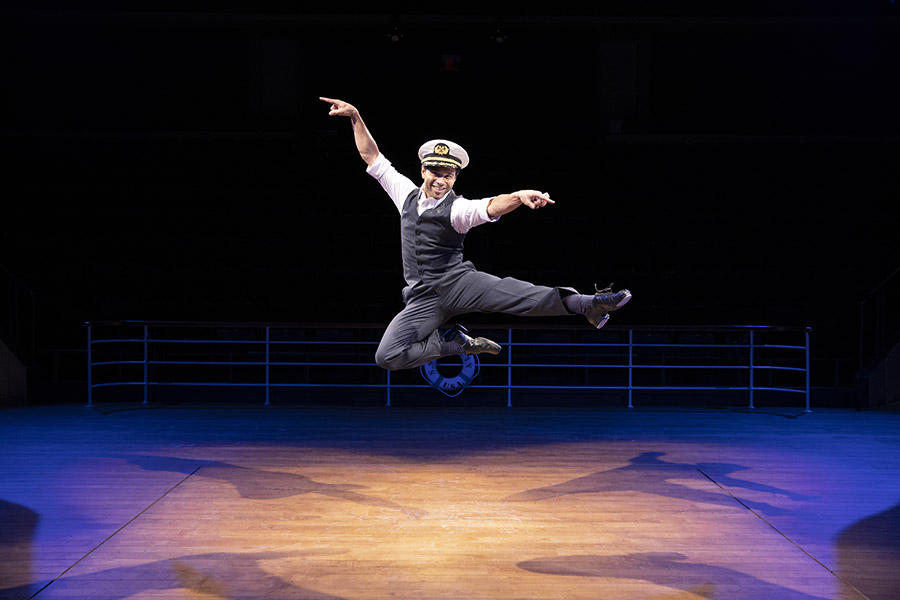 Corbin Bleu (Billy Crocker) in Anything Goes running November 2 through December 23, 2018 at Arena Stage at the Mead Center for American Theater. Photo by Maria Baranova. Photo courtesy Arena Stage.