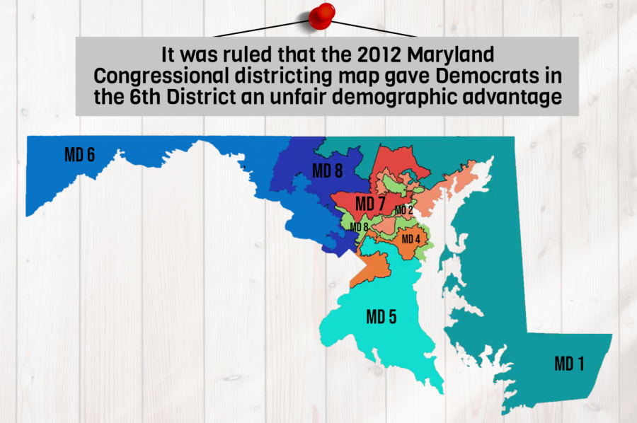 A+panel+of+three+federal+judges+ruled+Nov.+7+that+the+2012+Maryland+Congressional+districting+map+gave+Democrats+in+the+6th+District+an+unfair+advantage+in+the+2018+midterms.+Under+the+judges%E2%80%99+ruling%2C+Maryland+lawmakers+must+propose+new+boundaries+in+time+for+the+2020+elections.+