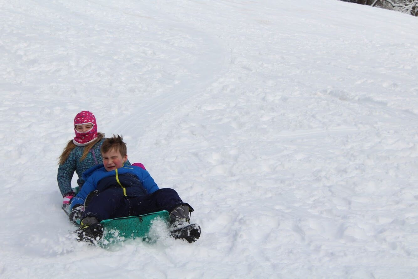 With three snow days so far this year, I set out to find the best sledding slopes in the area.