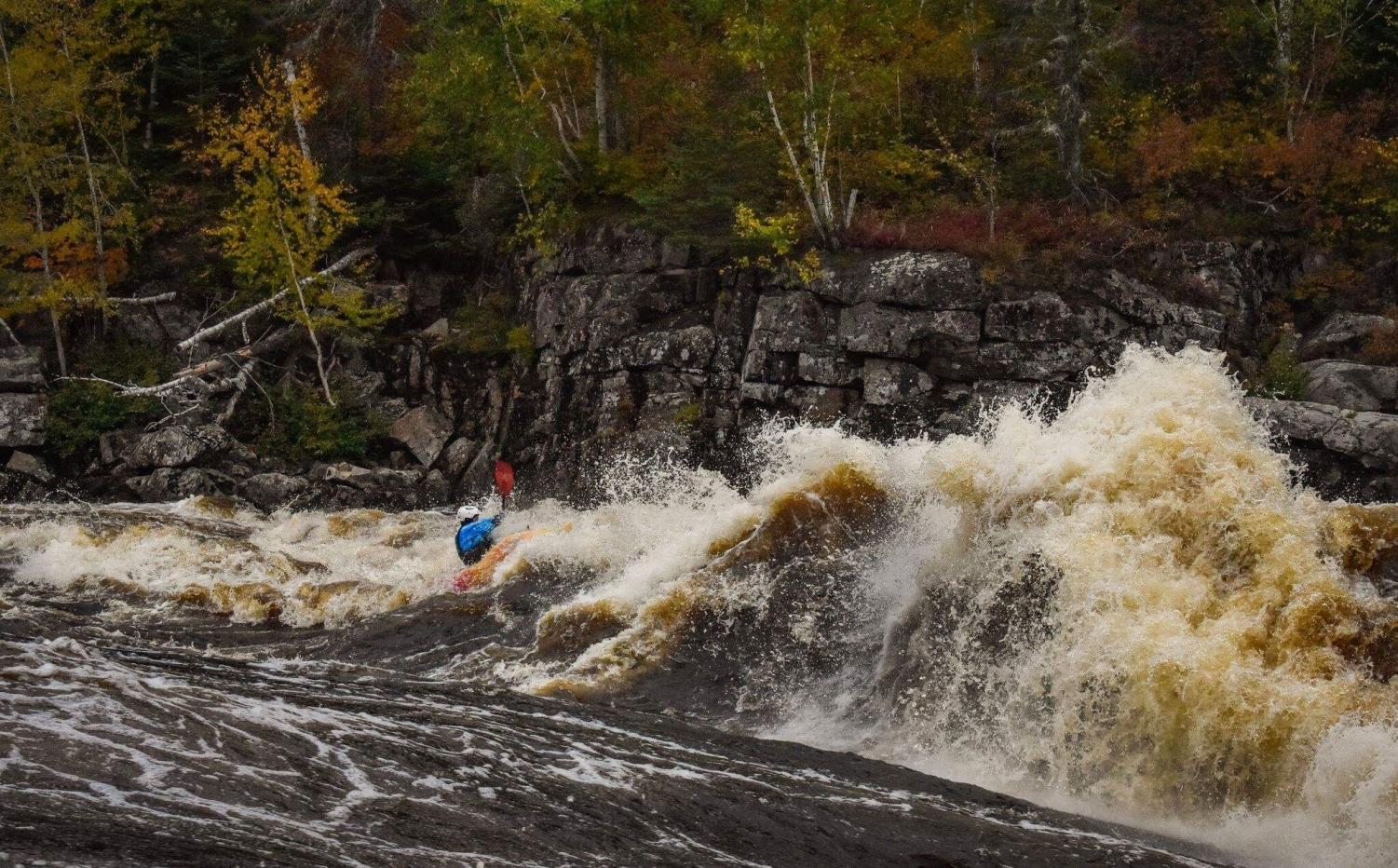Andrew Palim rides the rapids of the Mistassini river in Quebec, Canada. Palim joined the World Class Kayaking Academy in March 2018. Photo courtesy Andrew Palim.