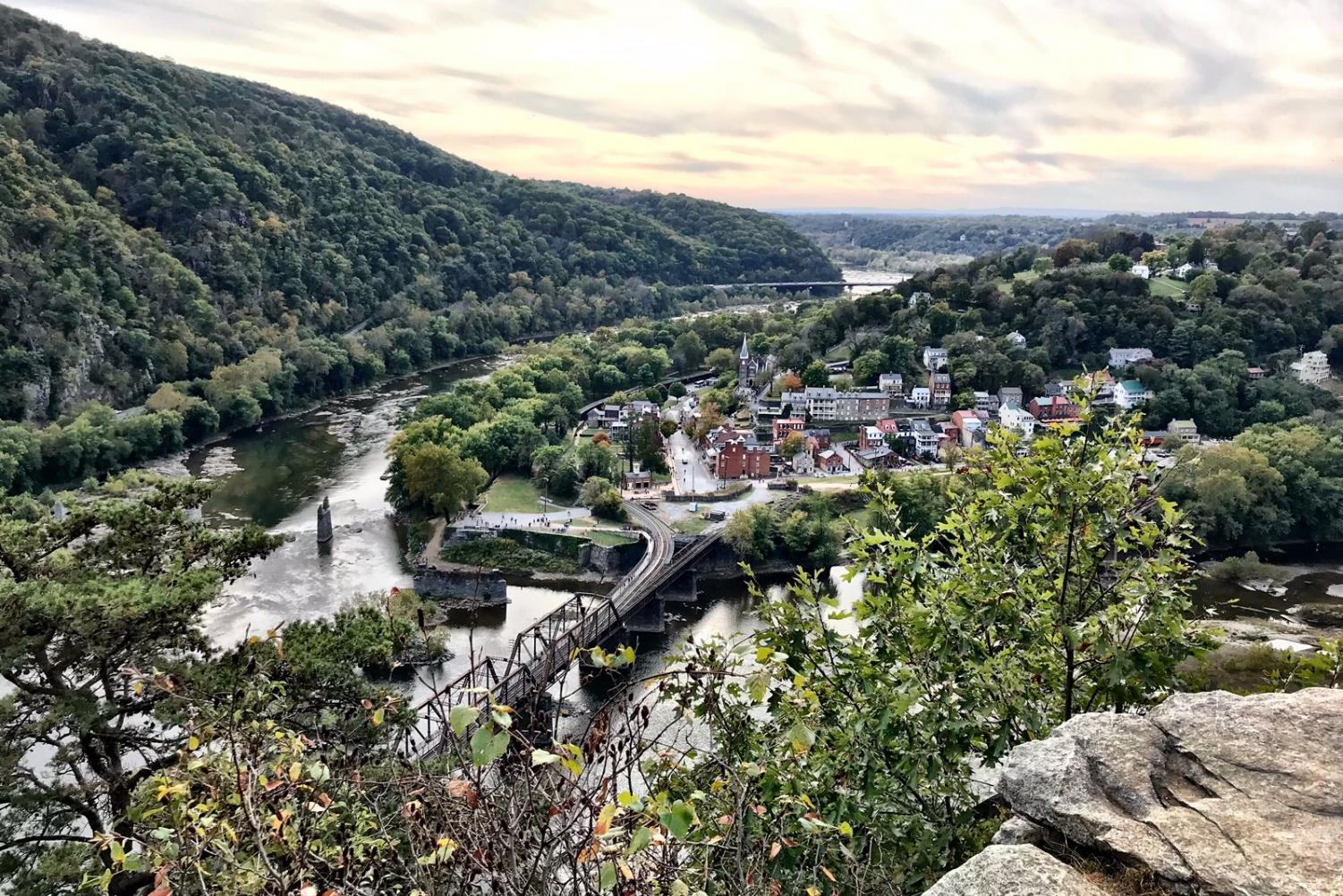 Harper's Ferry is a small historical town wedged between Harper's Ferry National Park, the Potomac River and the Shenandoah River. The town includes sites like the Point—where the two rivers meet—the Civil War Museum and John Brown's Fort, a key site in an 1859 abolitionist raid.