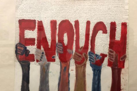"Students combine art and activism in new ""Walls of Demand"" exhibit"