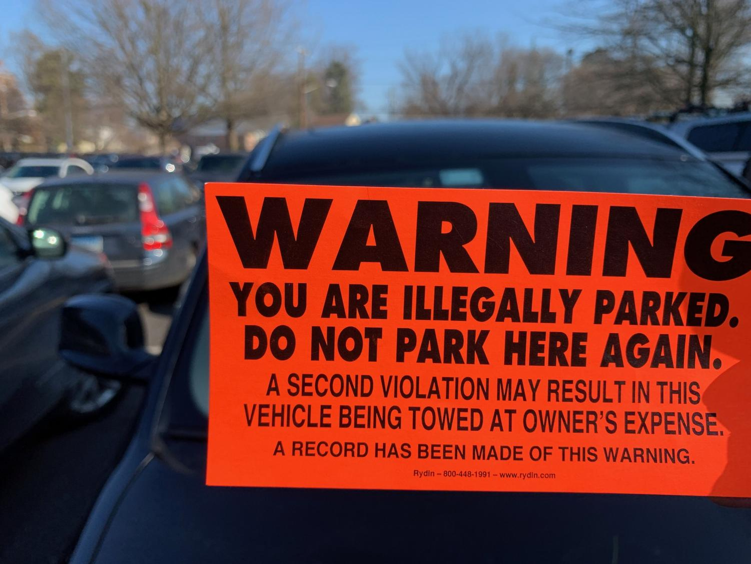 Many students received notices that their cars would be towed due to parking without a permit in the main parking lot. The increase in prohibited parking came as a result of the snow from Jan. 14 blocking parking spaces in both the main lot and baseball field parking.