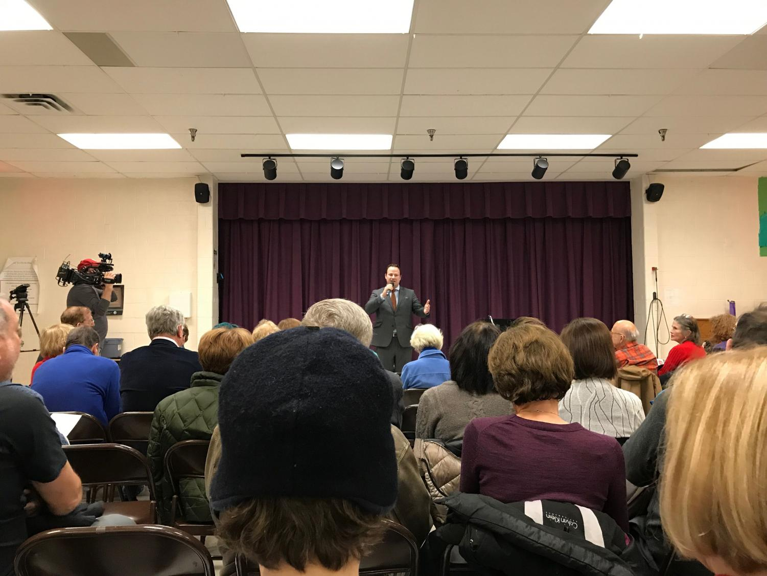 District 1 Montgomery County councilmember Andrew Friedson held a two-hour town hall at Burning Tree Elementary School Jan. 24. Friedson grew up in Potomac and went to Churchill High School.
