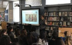 Young adult author Julie Berry speaks at Whitman