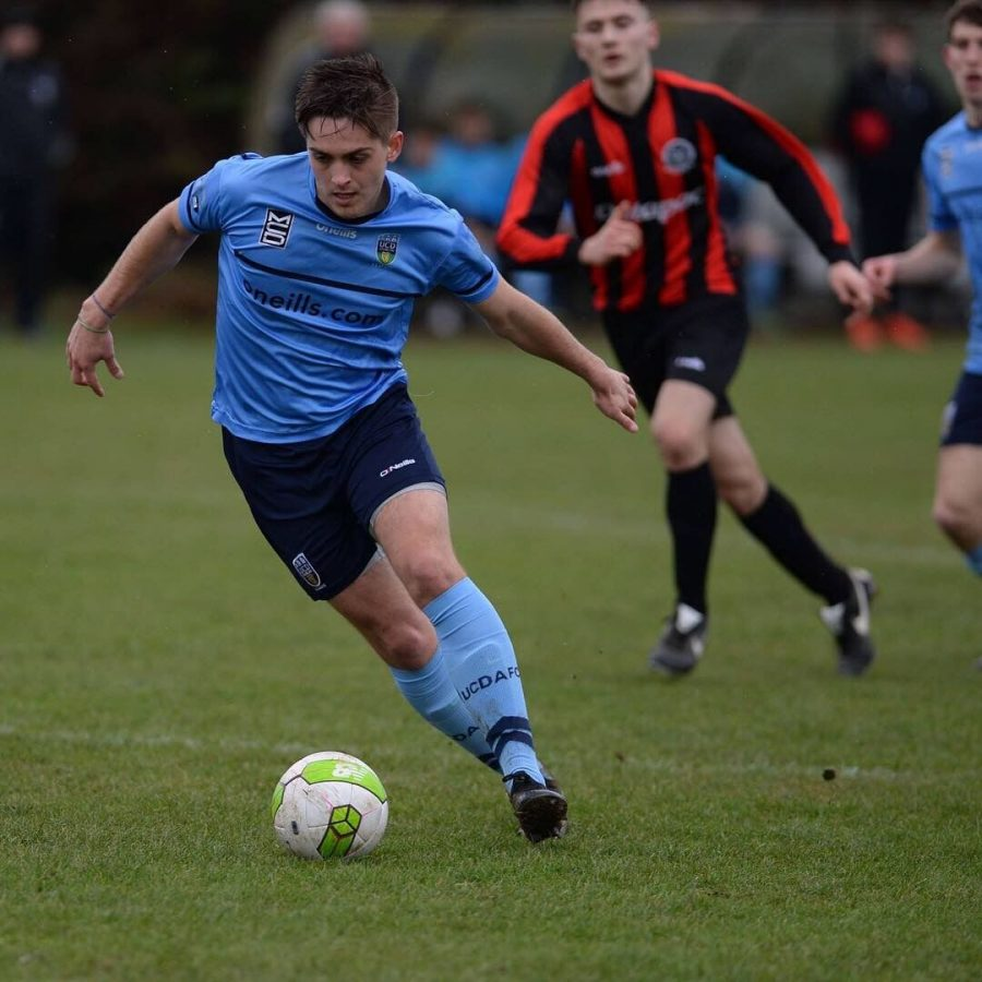 Andreas Djurhuus ('17) plays soccer for the University College Dublin on the UCD Association Football Club. Djurhuus captained the varsity soccer team at Whitman, winning a state championship and personal All-State and All-Met honors. Photo courtesy Djurhuus.