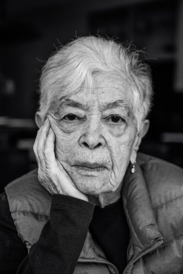 Holocaust survivor Ruth Cohen paragraphed at her home this February.