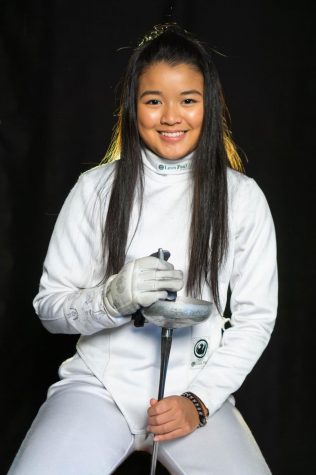 Fencing helps sophomore Sarah Tong let her guard down