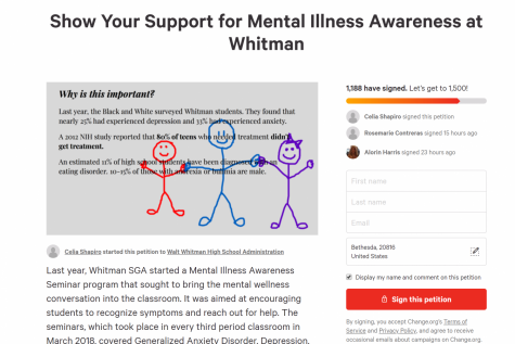 Mental illness awareness seminars to take place in classes next week