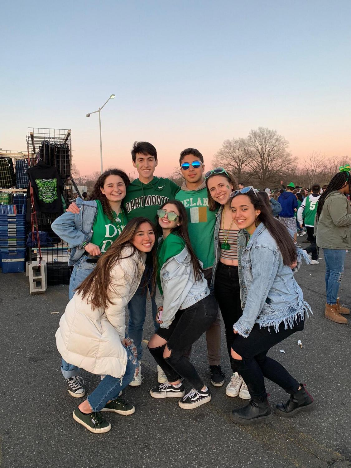A group of Whitman students, including author Danny Donoso second in from top left, attended Shamrock Festival March 23. The annual Festival featured Irish traditions and music and celebrated St. Patrick's Day.