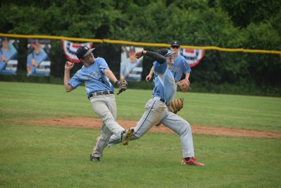 Shortstop Matt Ryan attempts to throw a runner out in the baseball team's 5–1 second round playoff win against the Walter Johnsons Wildcats. Photo courtesy of Joey Sussman.