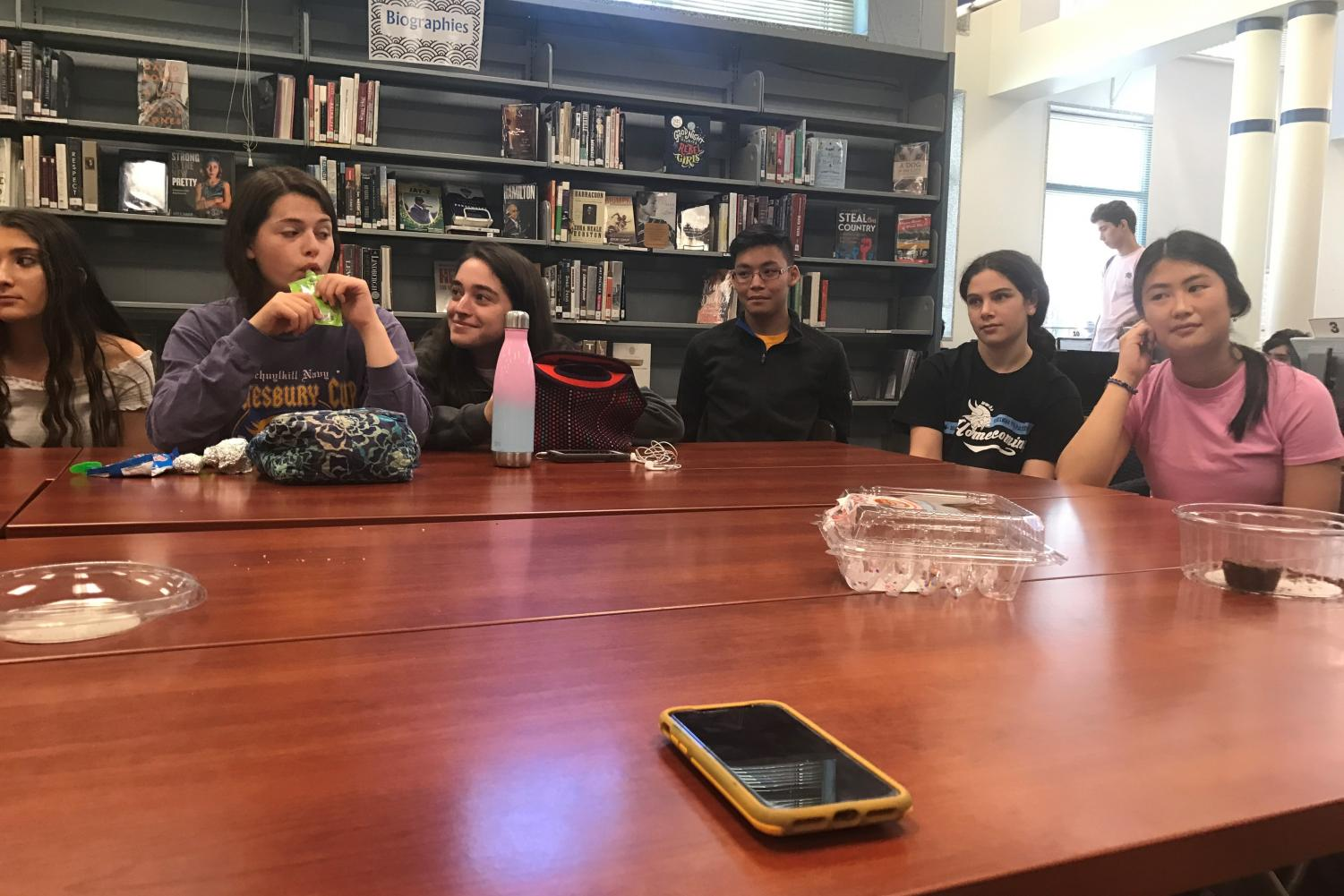Student discuss current issues regarding women's rights at a May 24 forum. GenerationWOW, a student-run women's empowerment club, hosted the forum to provide an open space for students to express their views.