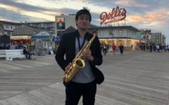 Sophomore Jordan Bell has played the saxophone since he was 9 years old. Now, in addition to playing in  Whitman's Jazz and Symphonic bands, Jordan plays the in the Paul Carr Jazz Academy of Music Orchestra and the Blues Alley Youth Orchestra outside of school. Photo courtesy Jordan Bell.
