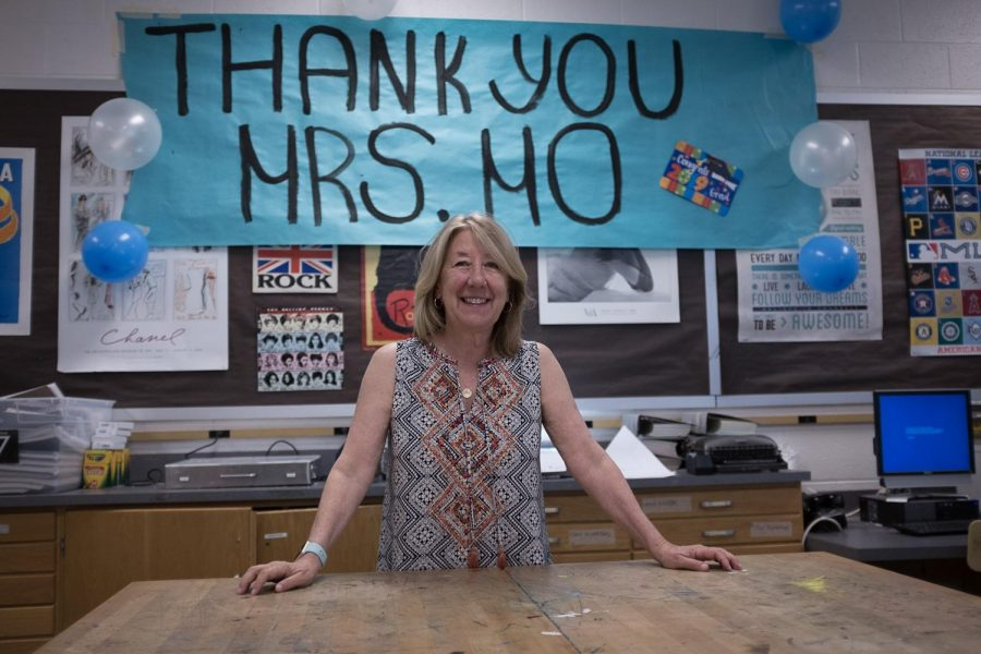 Commercial Art teacher Nancy Mornini will retire at the end of this school year. In her retirement, she plans on helping out with Team River Run, a nonprofit that her husband founded.