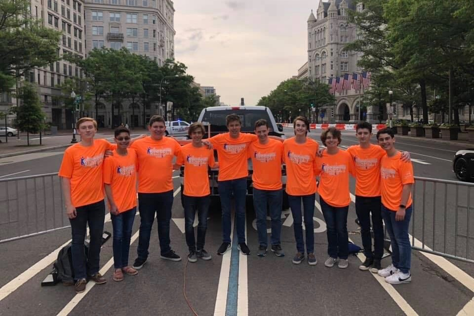 Solid & Sound performs the national anthem at the Race for Respect in D.C. June 1. Solid & Sound is one of Whitman's three student-run a cappella groups. Photo courtesy Matthew Millin.