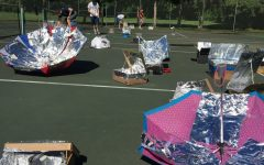 """""""Solar power, man"""": APES students test out homemade solar cookers"""