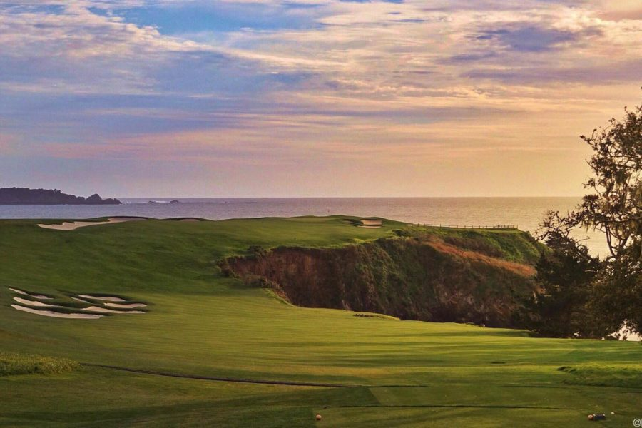 The sixth hole at Pebble Beach Golf Links. The U.S. Open begins June 13. Photo courtesy Jon Cavalier.