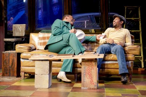 (R to L) Harvy Blanks (Shealy) and Amari Cheatom (Youngblood) in Jitney running September 13 through October 27, 2019 at Arena Stage at the Mead Center for American Theater.