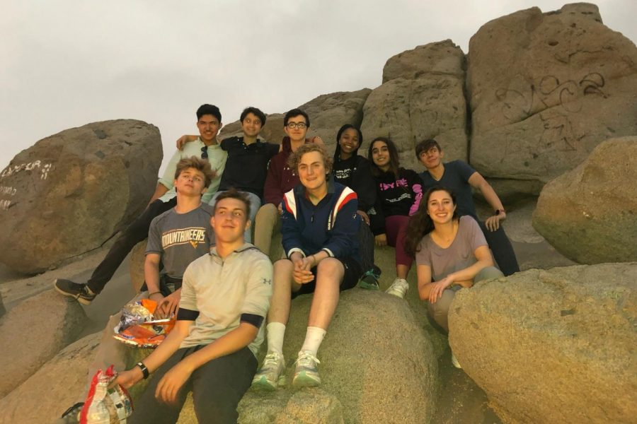 (Left to right, then downwards) Naren Roy ('19), juniors Sam Rahbin and Martin Kiron, senior Khanya Dalton, senior Micaela Murrugurra, sophomore James Cook, senior Liam Gilbert , junior Brady Infeld, graduate Ava Krensky and junior Ted Weise spent one week in Peru this summer teaching English with Whitman's Manos Unidas club. Photo courtesy MICAELA MURRUGURRA.