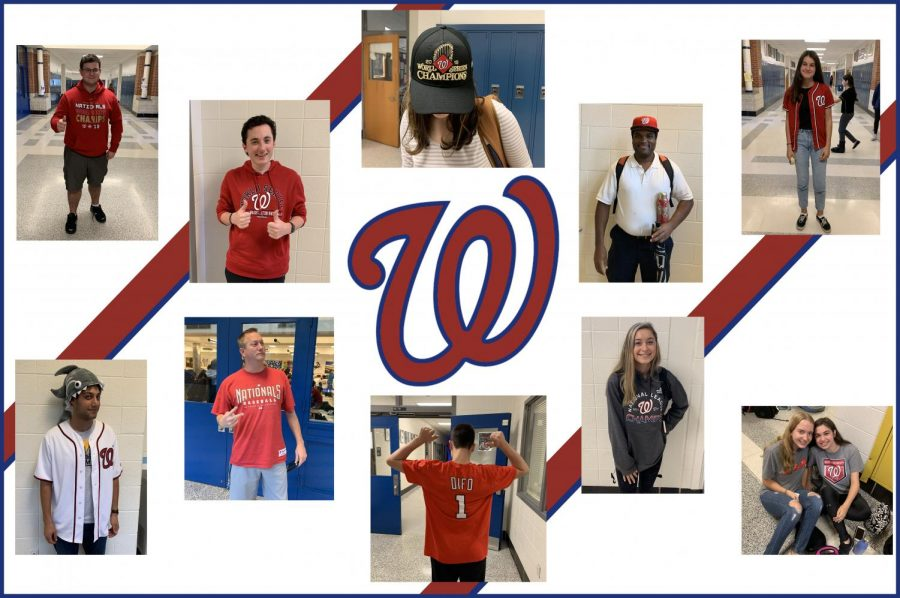 Students+and+teachers+wore+their+Nats+gear+to+school+today+in+celebration+of+the+World+Series+win.