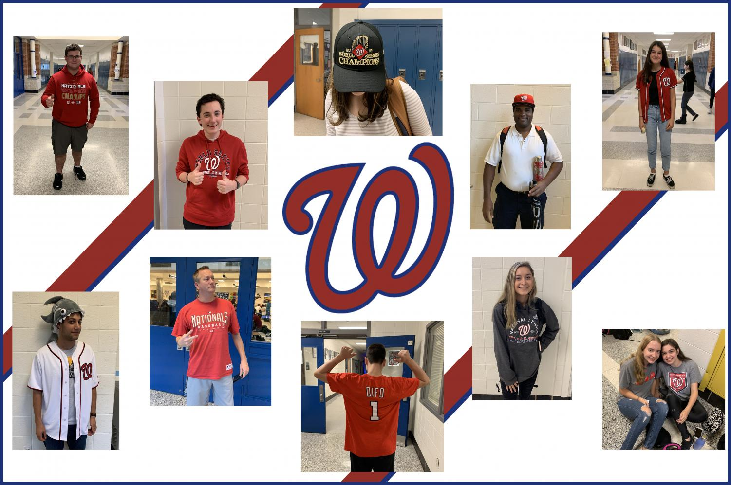 Students and teachers wore their Nats gear to school today in celebration of the World Series win.