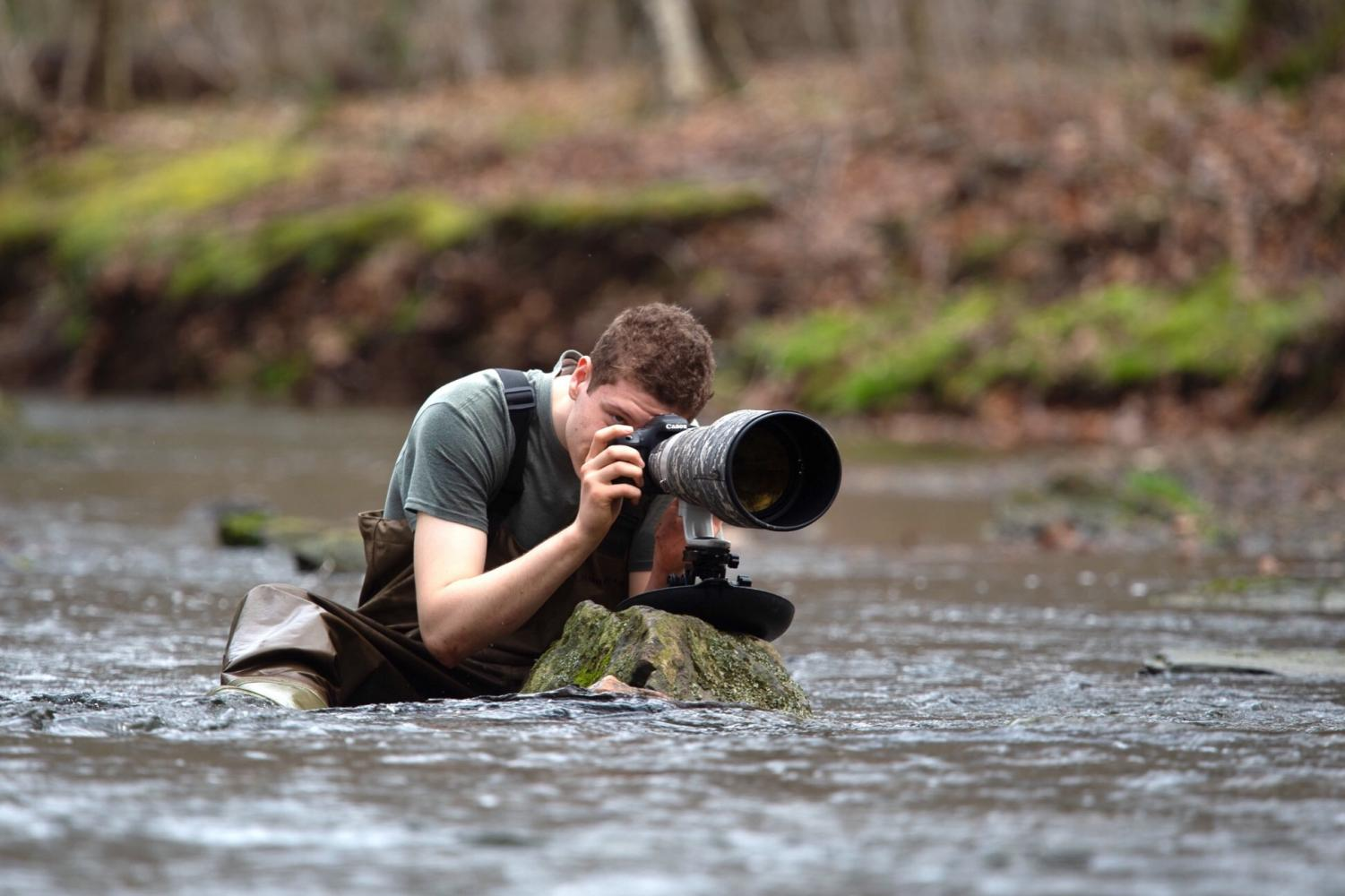 Senior Cameron Darnell has a passion for bird photography.