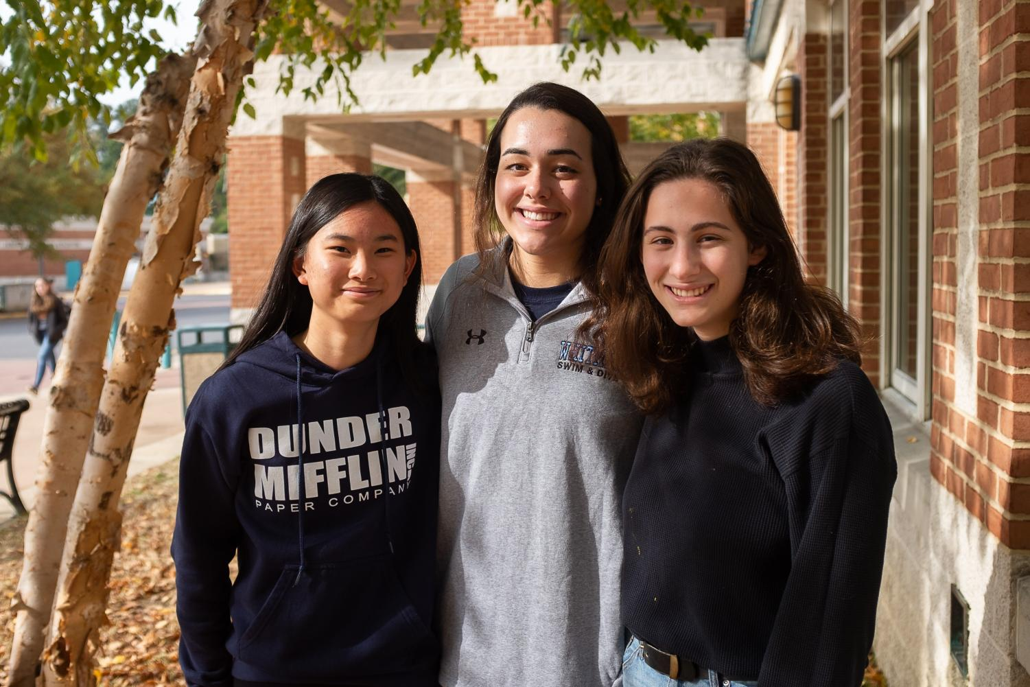 Left to right: Managing Editor Anna Yuan, Managing Editor Ally Navarrete and Editor-in-Chief Dana Herrnstadt.