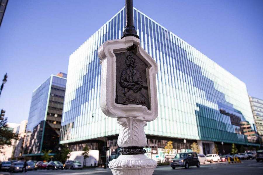 A callbox in D.C. honors Katharine Graham, who oversaw the Washington Post during the Watergate scandal. Local artist Charles Bergen is converting callboxes into monuments for influential D.C. women.