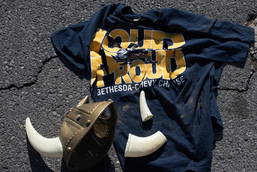 A broken viking hat lies on top of a tattered B–CC shirt. The Whitman vs B–CC rivalry stretches back years, but recently, it's become increasingly violent.