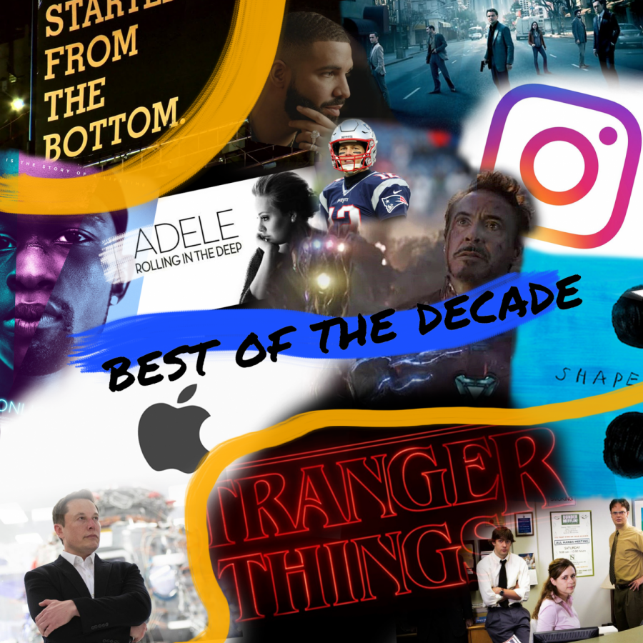We looked back on popular culture in the 2010s and picked what we felt was most influential to the decade.
