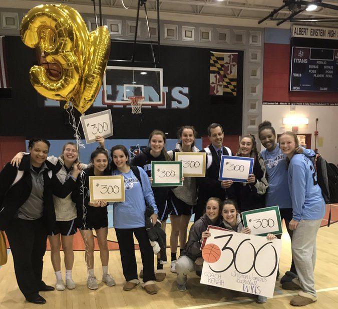 Girls basketball defeats Einstein 59–40 in Coach Kenah's 300th career win