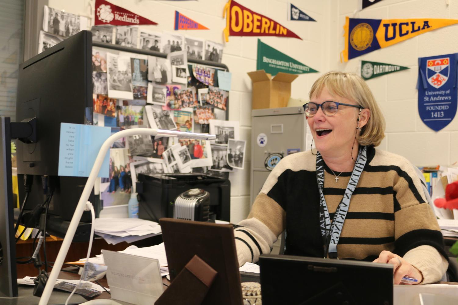Anne Hutchens, Whitman's College and Career Information Coordinator, has worked in her position for the past six years.