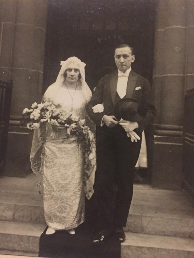 A photo of my great-grandparents Krikor and Astrid Papasian. Krikor married Astrid in Belgium after leaving behind his friends and family in order to survive the Armenian Genocide.