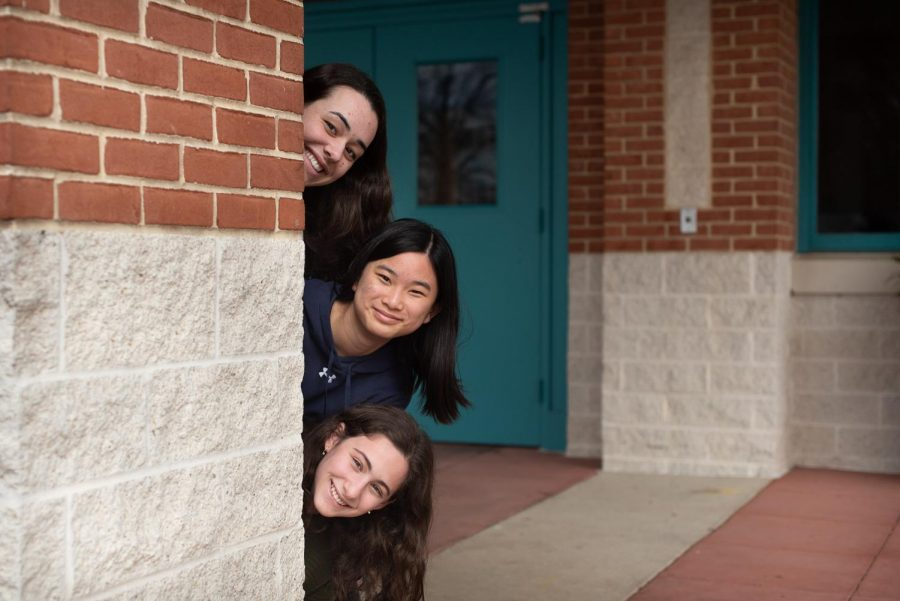 Top to bottom: Managing Editor Ally Navarrete,  Managing Editor Anna Yuan and Editor-in-Chief Dana Herrnstadt