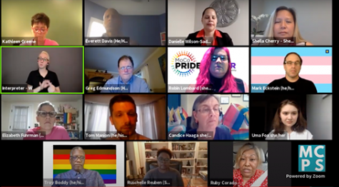 Panelists discuss ways families can support  LGBTQ+ students at the town hall held on May 27.