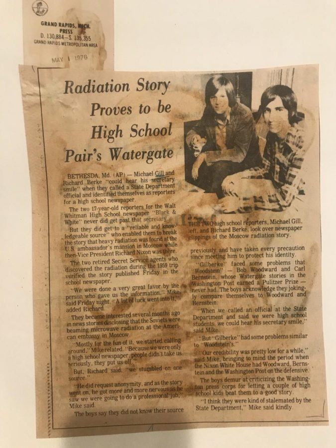 When two Black & White reporters broke a Soviet radiation scandal in 1976, news outlets around the country picked up the story of their efforts.