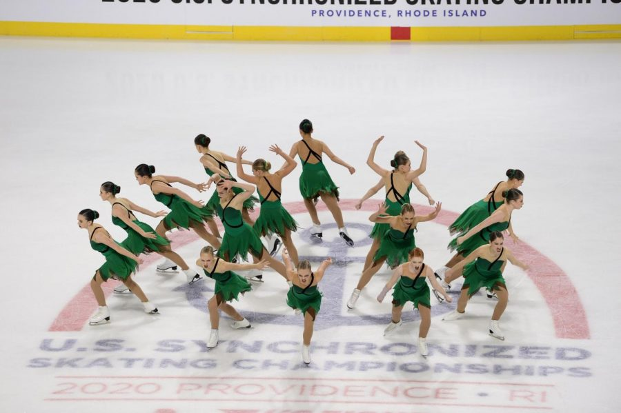 Junior Abbie Hall and her teammates compete at the U.S. Synchronized Skating Championships.