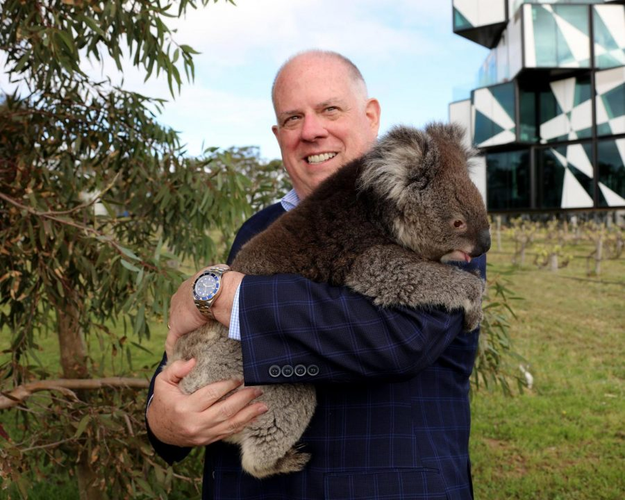 Maryland+Governor+Larry+%22The+Hog%22+Hogan+cuddles+a+koala+during+a+trip+to+Australia.