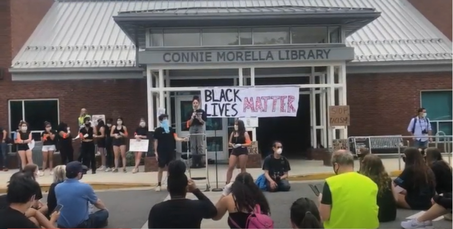 Black Lives Matter Bethesda protest