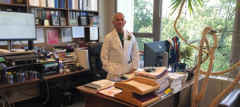 Dr. Anthony Fauci in his office at the National Institutes of Health.