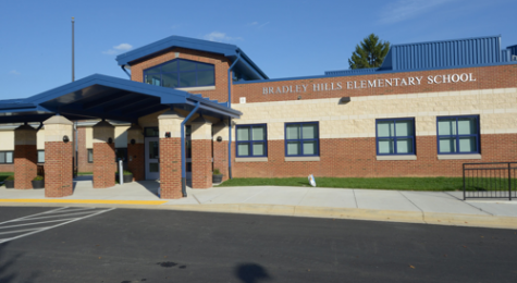 Bradley Hills Elementary School, where four staff members tested positive for COVID-19.
