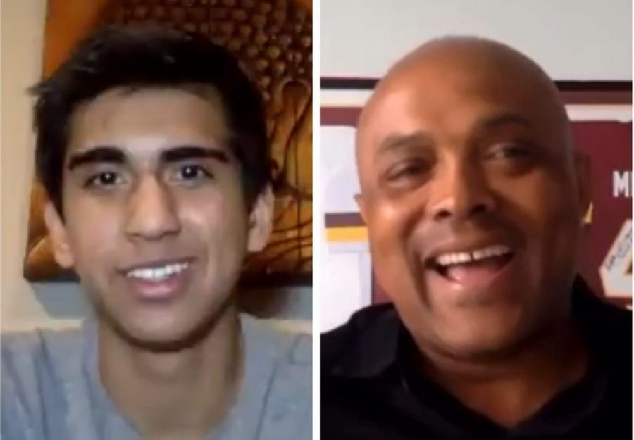 """Yaqub interviews guest and Washington football legend Brian Mitchell on his channel """"Interviews with Zach Yaqub."""""""