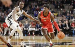 Georgia guard Anthony Edwards, a highly anticipated pick in the 2020 NBA draft, drives against a Vanderbilt defender.