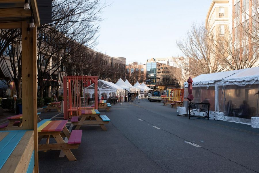 Businesses transformed a segment of downtown Bethesda, once a traffic hotspot, into
