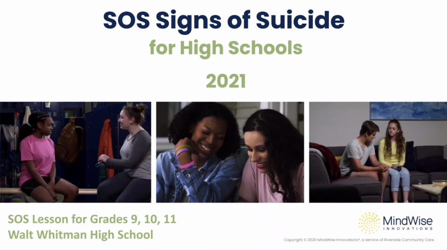 Counseling department hosts Signs of Suicide program