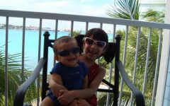 My brother, Zaki, and I pose for a photo while on vacation in the Bahamas 12 years ago.
