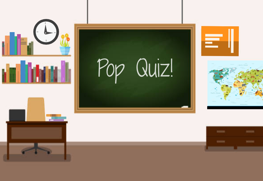 Ill admit it: I love pop quizzes. Regardless of their almost exclusively negative reputation, the incentive they provide me to stay on top of my schoolwork is unparalleled.