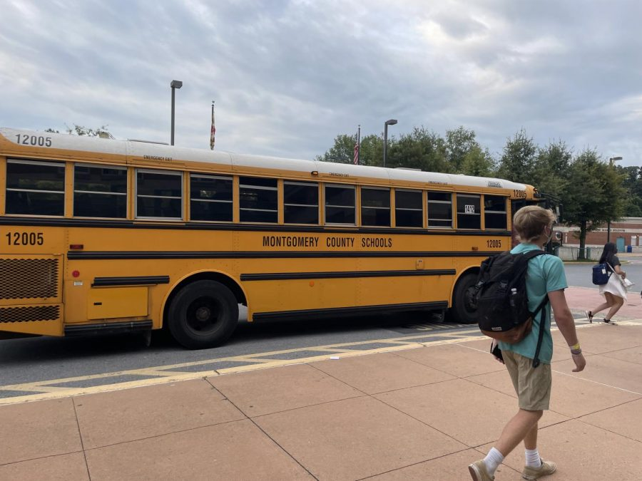 On the first day of school, many students school buses were late, overcrowded or both. One bus also broke down.
