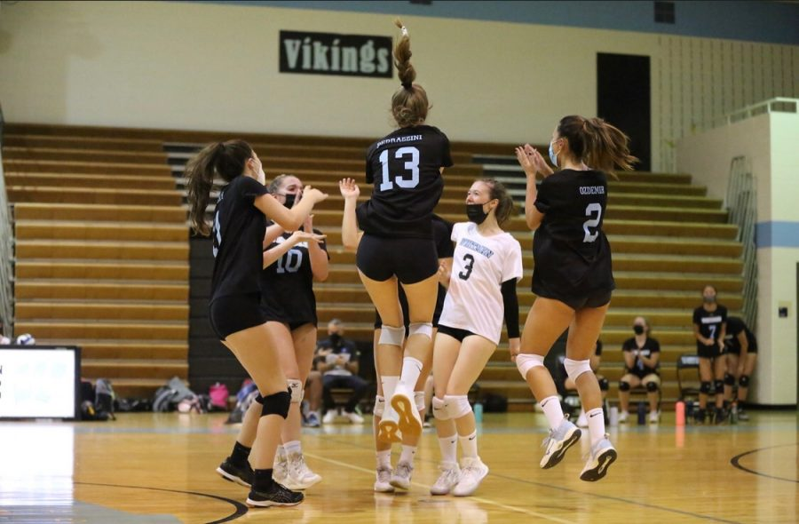 Girls volleyball wages war on Rockville in first home game